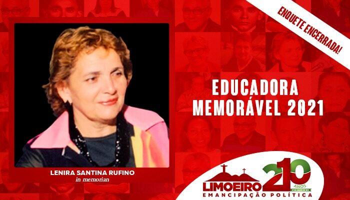 Enquete Popular elege Profª Lenira Santina Rufino como Educadora Memorável 2021